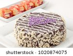 mother's day chocolate cake  | Shutterstock . vector #1020874075
