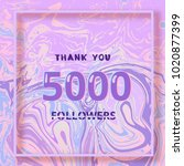 5000 followers thank you square ... | Shutterstock .eps vector #1020877399