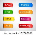 vector multicolored paper... | Shutterstock .eps vector #102088201