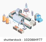 automated production line.... | Shutterstock . vector #1020884977
