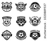 set of soccer  football emblems.... | Shutterstock .eps vector #1020889537