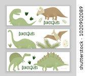 dinosaurs vector design ... | Shutterstock .eps vector #1020902089