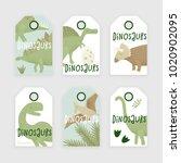 dinosaurs vector design ... | Shutterstock .eps vector #1020902095