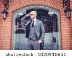 successful manager in a gray... | Shutterstock . vector #1020910651