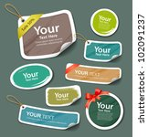 colorful collection label and... | Shutterstock .eps vector #102091237
