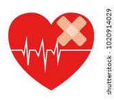 heart cardio with bandage