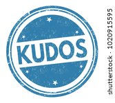 kudos sign or stamp on white... | Shutterstock .eps vector #1020915595