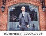 handsome bearded man in suit ... | Shutterstock . vector #1020917305