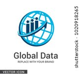 global corporate logo icon | Shutterstock .eps vector #1020918265