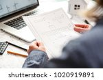 young female architect and...   Shutterstock . vector #1020919891