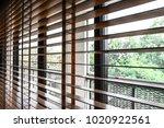 pattern of the wooden shutters... | Shutterstock . vector #1020922561