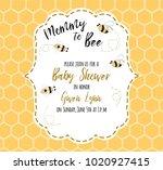 baby shower invitation template ...   Shutterstock .eps vector #1020927415