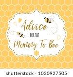 baby shower invitation template ... | Shutterstock .eps vector #1020927505