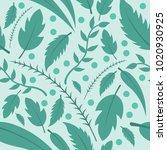 variety of leaves vector...   Shutterstock .eps vector #1020930925