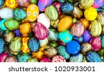 golden and painted artistic... | Shutterstock . vector #1020933001