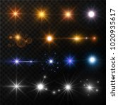 light and stars shine lens... | Shutterstock .eps vector #1020935617