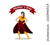 happy mother day | Shutterstock .eps vector #1020940519