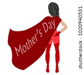 happy mother day | Shutterstock .eps vector #1020940531