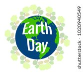 happy earth day | Shutterstock .eps vector #1020940549