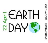 happy earth day | Shutterstock .eps vector #1020940555