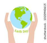 happy earth day | Shutterstock .eps vector #1020940615