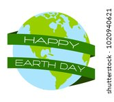 happy earth day | Shutterstock .eps vector #1020940621