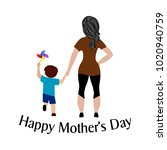 happy mother day | Shutterstock .eps vector #1020940759