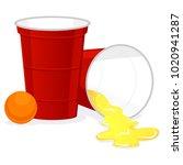 vector illustration of red beer ...   Shutterstock .eps vector #1020941287