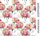 watercolor seamless pattern of ... | Shutterstock . vector #1020943249