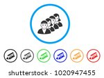 people queue rounded icon.... | Shutterstock .eps vector #1020947455