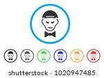 vampire head rounded icon.... | Shutterstock .eps vector #1020947485