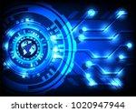 abstract technology blue world... | Shutterstock .eps vector #1020947944