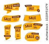 banner sale collection set  ... | Shutterstock .eps vector #1020951979