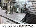 small household appliances in... | Shutterstock . vector #1020957865