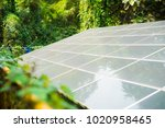 electric solar cell... | Shutterstock . vector #1020958465