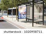 bus stop travel advertising 3d...   Shutterstock . vector #1020958711