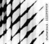 abstract grunge grid polka dot... | Shutterstock .eps vector #1020959959