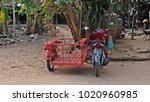 saleng is thai three wheel... | Shutterstock . vector #1020960985