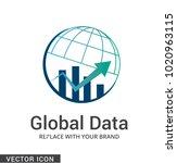 globe company logo icon | Shutterstock .eps vector #1020963115