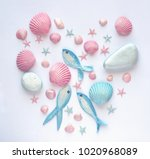 summer time concept with... | Shutterstock . vector #1020968089