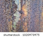 corroded white metal background.... | Shutterstock . vector #1020973975