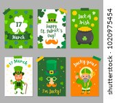 happy st. patrick's day... | Shutterstock .eps vector #1020975454