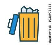 trash bin delete  | Shutterstock .eps vector #1020978985