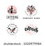 collection of vector catering... | Shutterstock .eps vector #1020979984
