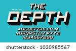 the depth vector decorative... | Shutterstock .eps vector #1020985567