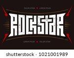 rockstar   t shirt design. rock ... | Shutterstock .eps vector #1021001989