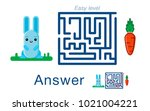 children's labyrinth withr ... | Shutterstock .eps vector #1021004221