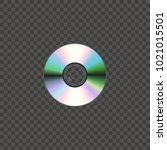 compact disc isolated on... | Shutterstock .eps vector #1021015501