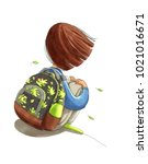 watercolor illustration... | Shutterstock . vector #1021016671