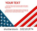 background with american flag... | Shutterstock .eps vector #102101974